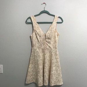 NWT cream and gold dress